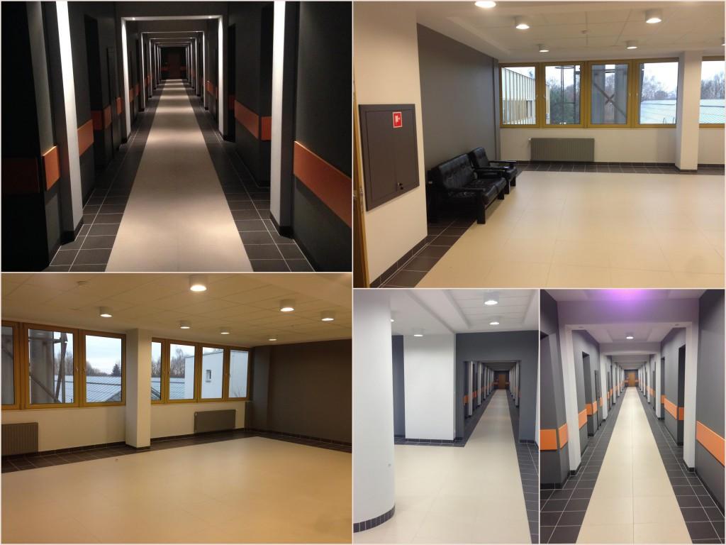 Remont holu i korytarza w budynku WIORIN, Poznań ul. Grunwaldzka listopad/grudzień 2014
